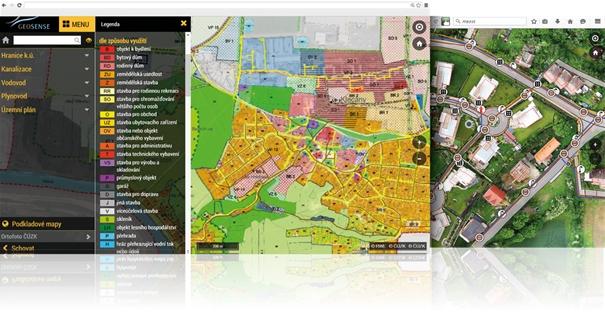 mapový informační systém obrázek