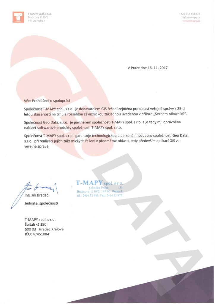 T-Mapy - 2017-11-16 - prohlášení o spolupráci